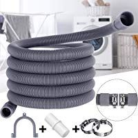 10 Ft Universal Washing Machine Drain Hose Flexible Dishwasher Drain Hose Extension Kits Corrugated Washer Discharge Hose With 1 Exten In 2020 Washing Machine Drain Hose