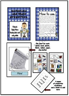 Materials and their properties bundle from Just Teach on TeachersNotebook.com (17 pages)  - Materials and their properties packet display and sorting activities