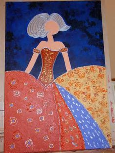 meninas modernas Diy And Crafts, Arts And Crafts, Easy Canvas Painting, Needlepoint Stitches, Arte Popular, Illustrations And Posters, American Art, Creative Art, Paper Art