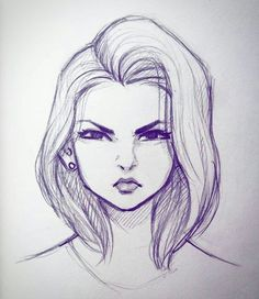Ideas For Doodle Art Sketches Awesome Girl Drawing Sketches, Illustration Art Drawing, Girly Drawings, Art Drawings Sketches Simple, Pencil Art Drawings, Drawing Faces, Drawing Art, Easy Drawings, Girl Face Drawing