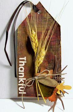 Fall gift tag