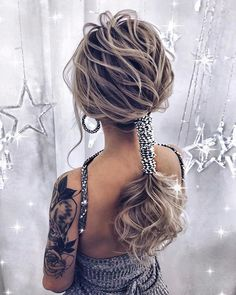 Tersonalized Hairstyle;Braided Hairstyle Steps Source by Braided Hairstyles Updo, Bride Hairstyles, Hairstyles 2016, Braid Styles, Hair Designs, Wavy Hair, Thick Hair, Hair Looks, Short Hair Cuts