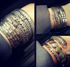 Pro tip: stack bangles in odd numbers - by 3, 5, 7, or 9 -as we did with our favorite John Hardy pieces