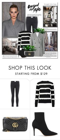 """""""The only way to discover the limits of the possible is to go beyond them into the impossible!!"""" by lilly-2711 ❤ liked on Polyvore featuring Anja, Frame, YAL New York, Calvin Klein 205W39NYC, Gucci and Gianvito Rossi"""