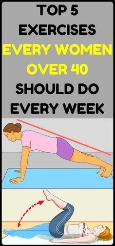 Top 5 Exercises For Women Over 40 Should Do Every Week - Health and Natural Medicine Fitness Nutrition, Health And Nutrition, Fitness Tips, Health And Wellness, Health Tips, Fitness Motivation, Women's Health, Nutrition Store, Nutrition Shakes