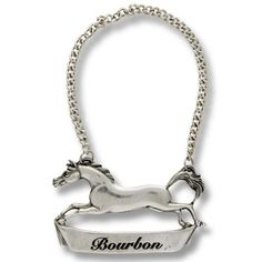 Vagabond House Galloping Steed Pewter Bourbon Tag