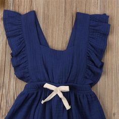 Sleeveless Ruffle Solid Color Romper Backcross Jumpsuit Outfits Sunsuit For Baby Girl-in Rompers from Mother & Kids on AliExpress Ruffle Romper, Baby Girl Romper, Kids Outfits Girls, Girl Outfits, Kids Girls, Baby Girls, Baby Girl One Pieces, Vestidos Vintage, Girls Rompers