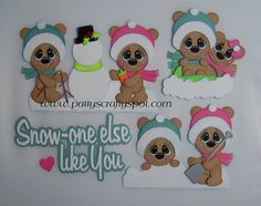Snow One Else Like You Bears Paper Piecing