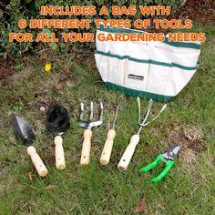 限时销售:GardenHOME不锈钢园艺工具6件套 – PZOK.com 平折好