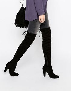 Public Desire Olivia Tie Back Heeled Thigh High Boots #fashion #style #ootd #ootn #fashionblogger #fashionblog #streetstyle #streetwear #streetlook #classic #simple #love #beauty #glam #chic #beautyblogger #beautyblog #travel #travelblog #travelblogger #makeup #makeupartist #hair #allBLACK #lbd #outfit #humpday