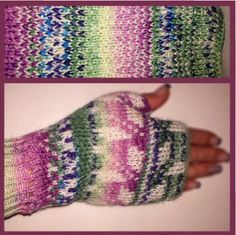fingerless mittens pattern for Passap duo 80