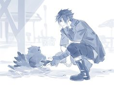 noctis and the black chocobo ffxv