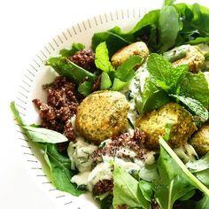 Falafel, Quinoa & Tzatziki Salad