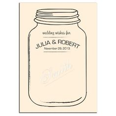 Exclusively Weddings | Mason Jar Signature Guest Book Canvas