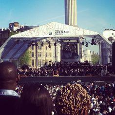 London Symphony Orchestra in Trafalgar Square, 2013