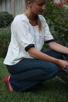 Блузка – крестьянка из мужской рубашки « Красота спасет мир!