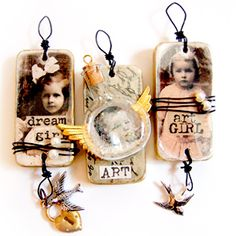 Domino Altered Art Charm Pendants Sat. Nov. 14  10a.m.-1p.m.