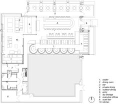 Cafe R & D - prototype restaurant by LOHA, floor plan reference