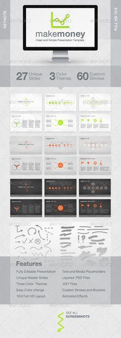 MakeMoney Keynote Presentation Template - GraphicRiver Item for Sale