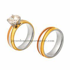 alianza anillo de bodas boda Anillo de mujer anillo de compromiso cristal piedras acero inoxidable dedo anillo