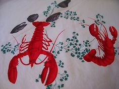 Vintage Wilendur lobster tablecloth - I found one of these at an estate sale last year!