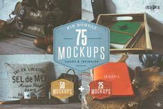75 Hip Logo Overlay Mock Ups