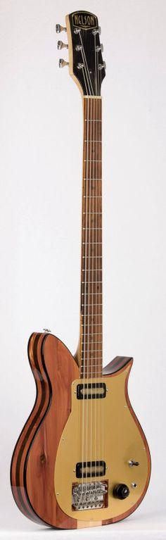 Nelson Guitars Dilettante Bass VI Rustic Deco