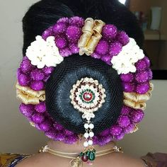 South Indian Bride, Bun Hairstyles, Updos, Bridal Hair, Captain Hat, Exotic, Crochet Necklace, Buns, Hair Styles
