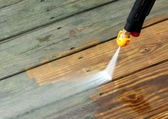 Power Washing Your Deck Is it the Right Call?     Power washing can restore the natural color of your deck, but so can a deck cleaner. Power washing a deck is a quick and efficient way to get it ready for painting or staining, but it isn't a necessary prerequisite. In fact, in some …