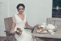 Silk lace Christine Trewinnard Wedding gown.