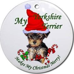 yorkshire terrier christmas ornament - Google Search