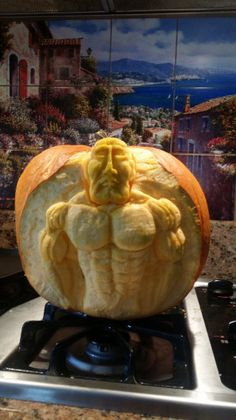 SpiderMan was just entered into the Annual Pumpkin Carving Contest. Why not submit your carved pumpkin today? #pumpkincarving #halloween