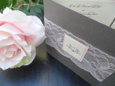 Wedding Invitation  - lace