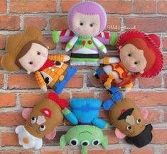Toy Story Felt PDF Pattern Woody Jessie Buzz Mr. & Mrs. | Etsy