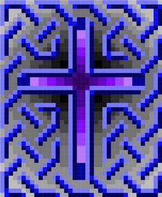 0105 Celtic Cross 02 Quilt Pattern | Etsy Celtic Patterns, Cross Patterns, Quilt Block Patterns, Pattern Blocks, Crochet Patterns, Diy Perler Beads, Perler Bead Art, Pixel Crochet Blanket, Muggulu Design
