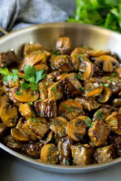 These beef tips are steak pieces that are seared to golden brown perfection, then simmered in a savory mushroom gravy. Cube Steak Recipes, Beef Steak Recipes, Healthy Beef Recipes, Steak Tips, Beef Recipes For Dinner, Instant Pot Dinner Recipes, Meat Recipes, Recipies, Beef And Mushroom Recipe