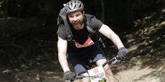 London to Brighton Off road rider comes down muddy hill