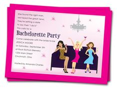 items similar to printable bachelorette party invitations girls night out invites by the party stork on etsy - Printable Bachelorette Party Invitations
