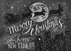 "Home Accents ""x City Sleigh Fußmatte, Schwarz - Products - wandbehandlung Christmas Chalkboard Art, Merry Christmas Calligraphy, Christmas Signs, Christmas Art, Grapevine Christmas, Blackboard Art, Chalkboard Lettering, Lily And Val, Chalk Wall"