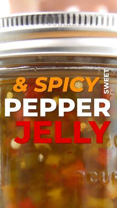Sweet & Spicy Pepper Jelly I try to make pepper jelly every year. I'm a sucker for all things sweet and spicy and I LOVE to eat pepper jelly on a bagel with a schmear of cream cheese. Jalapeno Jelly Recipes, Jalapeno Pepper Jelly, Pepper Jelly Recipes, Jalapeno Jam, Spicy Red Pepper Jelly Recipe, Hot Pepper Relish, Jam Recipes, Canning Recipes, Dressings