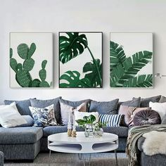 The Idea Of 3 Large Portraits Over Couch Art