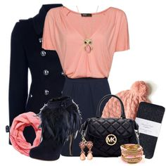 """""""Navy & Pink"""" by tacciani on Polyvore"""