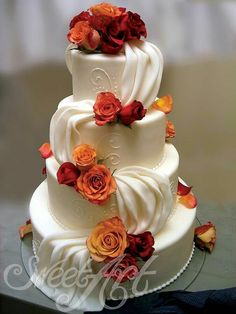 Country Wedding Cakes Wedding Cakes: made from scratch with the finest ingredients ‹ Sweet Art – Fine Swiss Confectioner Pretty Cakes, Beautiful Cakes, Amazing Cakes, Fall Wedding Cakes, Wedding Cake Designs, Wedding Ideas, Wedding Inspiration, Orange Wedding, Wedding Colors