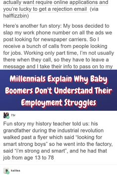 #Millennials #Explain #Baby #Boomers #Understand #Employment #Struggles