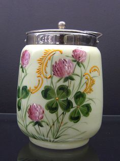 95: Victorian art glass biscuit jar. : Lot 95