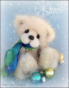 Snow #2 for 2014 Christmas collection, Bare Cub Designs by Helen Gleeson