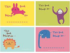 printable bookplates - These would work for school folders, too! from mrprintables.com