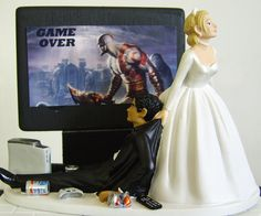 torta de novios entrete Custom Wedding Cake Toppers, Wedding Topper, Wedding Cakes, Video Game Cakes, All Things, Things To Come, Mothers Day Cake, Groom, Reception