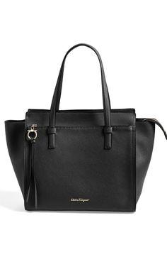 ec03a2693aad Main Image - Salvatore Ferragamo  Fill Up - Large  Leather Tote Plus Size  Fashion