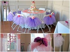 Pink + Purple Ballerina Tea Party! OMG. Adorable. So many thoughtful details.